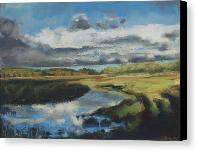 Maine Canvas Print featuring the pastel Earth Air Water by Grace Keown