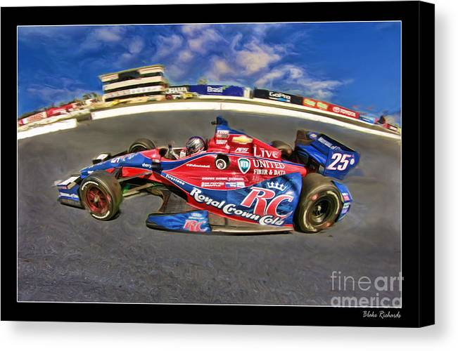 Marco Andretti Canvas Print featuring the photograph Marco Andretti by Blake Richards