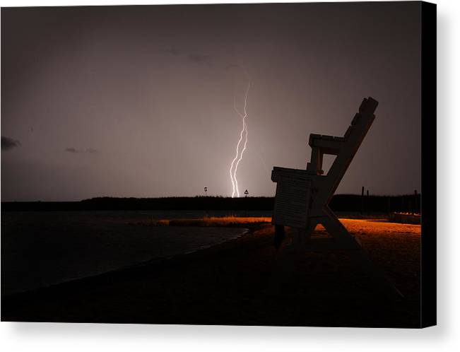 Long Beach Island Canvas Print featuring the photograph Storm2 by Patric Pross