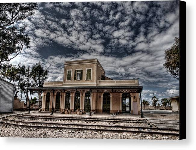 Israel Canvas Print featuring the photograph Tel Aviv First Railway Station by Ron Shoshani