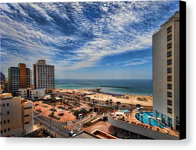 Israel Canvas Print featuring the photograph Tel Aviv Summer Time by Ron Shoshani