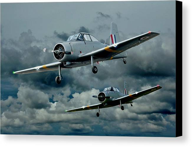 Planes Canvas Print featuring the photograph Flight Of The Winjeels by Steven Agius