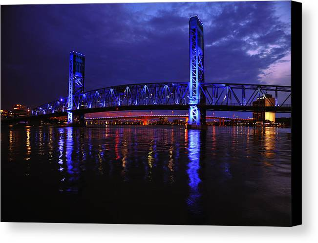 Main Canvas Print featuring the photograph Main Street Bridge by Terry Shuck