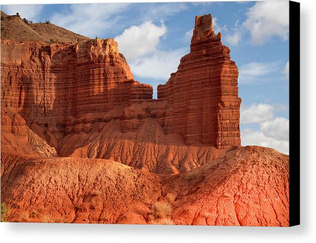 Capitol Reef National Park Canvas Print featuring the photograph Southwest Desert Scene by Douglas Pulsipher