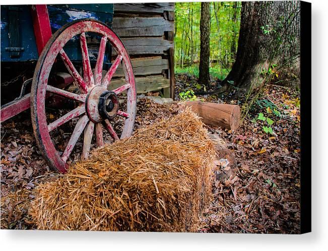 Wagon Canvas Print featuring the photograph Wagon Daze by Gene Hilton