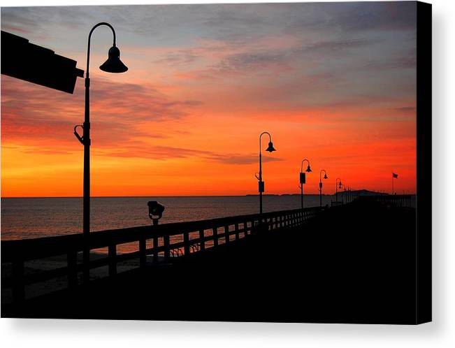 California Canvas Print featuring the photograph Tequila Sunrise by Miles Stites