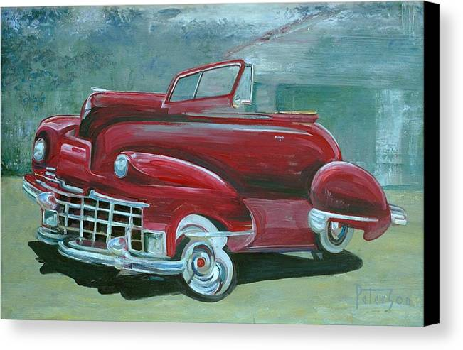 1947 Cadillac Canvas Print featuring the painting Cadillac 47 by Gary Peterson