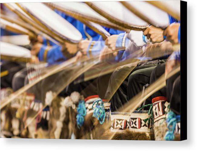 Alaska Canvas Print featuring the photograph Drumming by Patrick Endres
