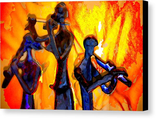 Music Canvas Print featuring the photograph Fire Music by Danielle Stephenson