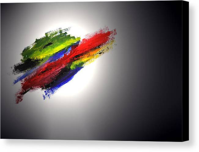 Abstract Canvas Print featuring the painting Free Form by Adam Wells