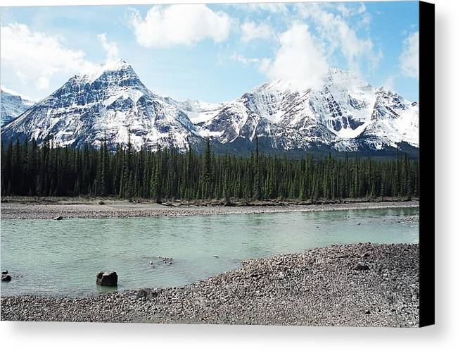 Landscape Canvas Print featuring the photograph Mountain And Stone by Caroline Clark