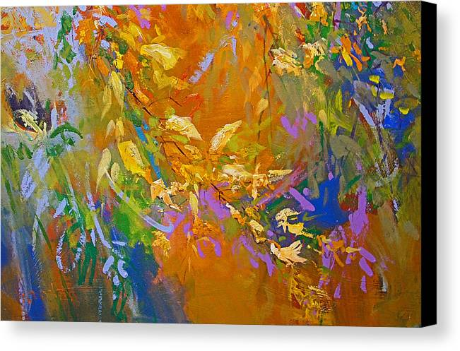Landscape Canvas Print featuring the painting Out My Window by Dale Witherow