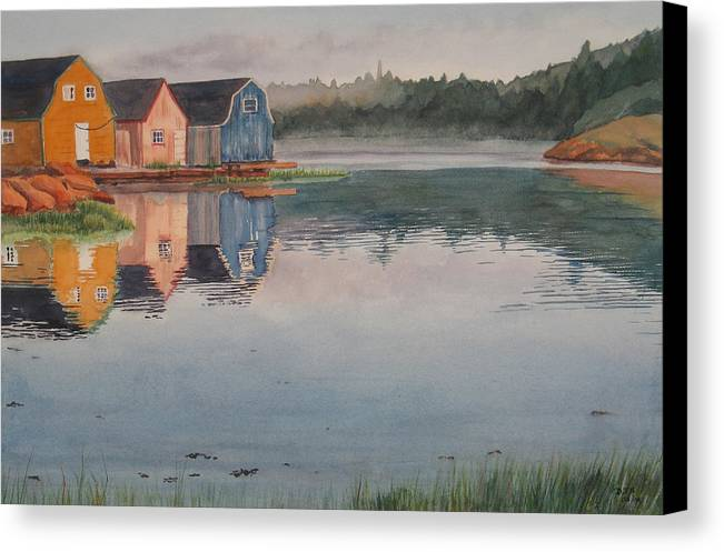 Pei Canvas Print featuring the painting P.e.i. Morning by Debbie Homewood