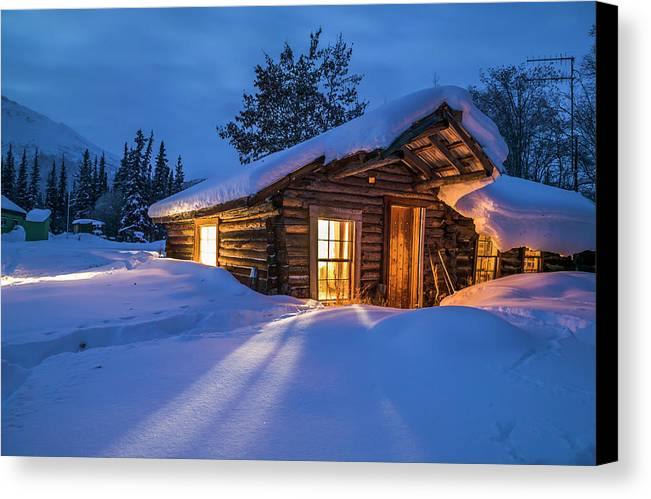 Log Cabin Canvas Print featuring the photograph Rustic Living by Patrick Endres