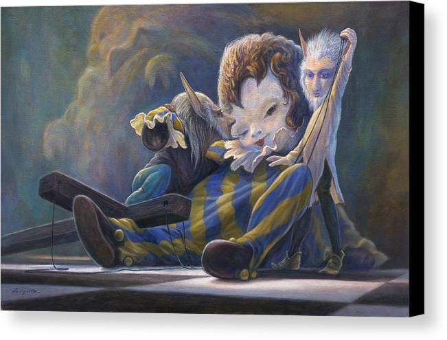 Leonard Filgate Canvas Print featuring the painting The Marionette by Leonard Filgate