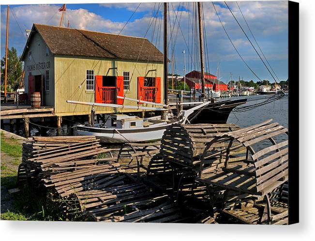 Mystic Canvas Print featuring the photograph Thomas Oyster Co.- Mystic by Thomas Schoeller