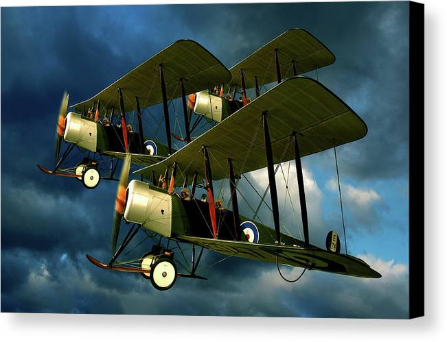 Bi Planes Canvas Print featuring the photograph Up In The Air by Steven Agius