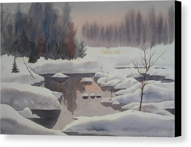 Winter Canvas Print featuring the painting Winter Magic by Debbie Homewood