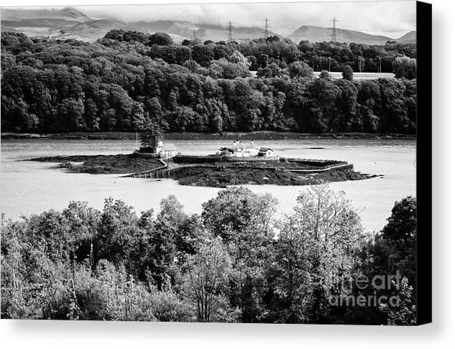 Ynys Canvas Print featuring the photograph Ynys Gored Goch Island In The Menai Strait North Wales Uk by Joe Fox