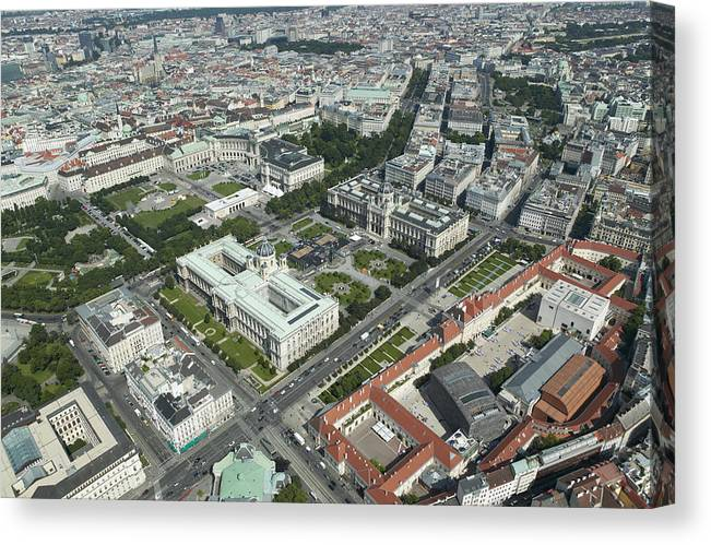 Austria Canvas Print featuring the photograph The Museums Area And Hofburg Palace by Xavier Durán