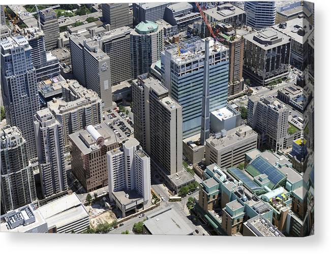 Canada Canvas Print featuring the photograph 700 Bay Street & Gerrard Street, Toronto by Bernard Dupuis