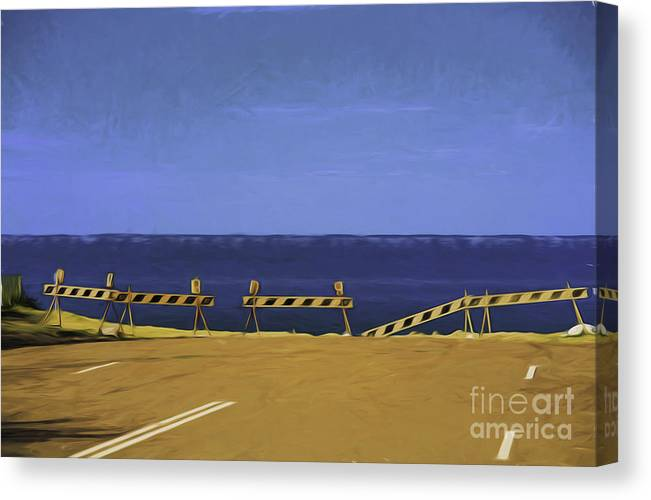 Barriers Canvas Print featuring the photograph Barriers by Sheila Smart Fine Art Photography