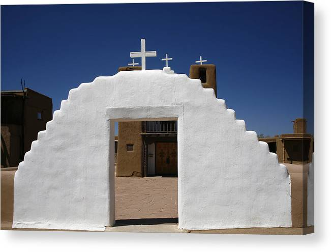 Taos Canvas Print featuring the photograph Pearly Gates by Morris McClung