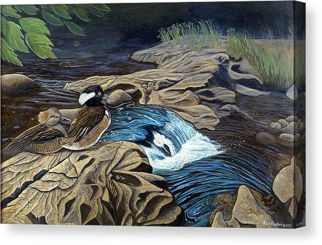 Rick Huotari Canvas Print featuring the painting The Resting Place by Rick Huotari