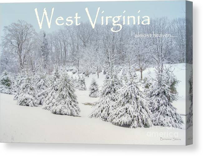 West Virginia Canvas Print featuring the photograph Winter In West Virginia by Benanne Stiens