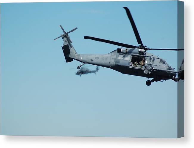 Helicopter Canvas Print featuring the photograph 920th Rescue Squadron Orbit by Mark Weaver