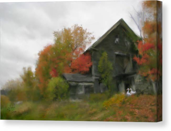 Nature Canvas Print featuring the painting Autumn Stroll by Stephen Lucas