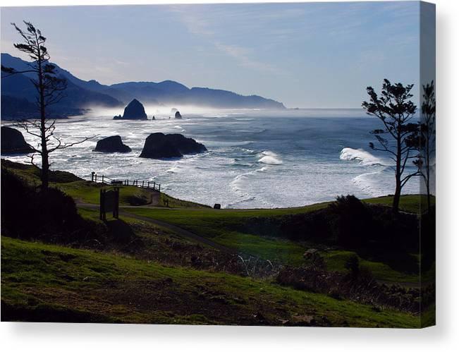 Beach Canvas Print featuring the photograph Cannon Beach Oregon by Owen Ashurst