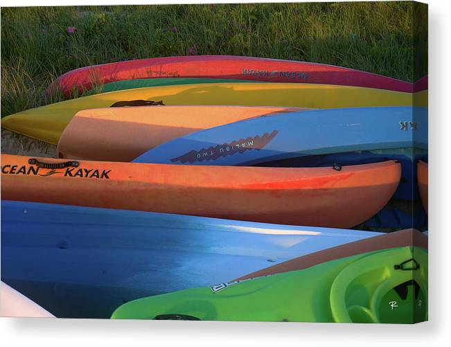 Nantucket Canvas Print featuring the photograph Kayak by Tom Romeo