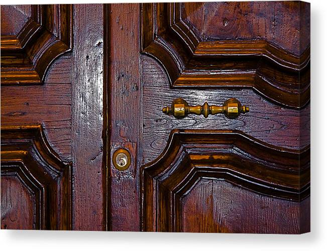 Lucca Canvas Print featuring the photograph Lucca Door by John Daly
