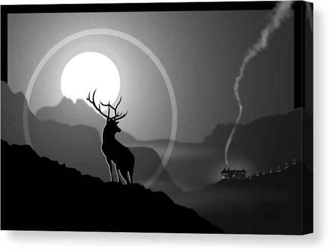 Elk Canvas Print featuring the digital art Majestic Elk Stoneridge by Dana Bennett
