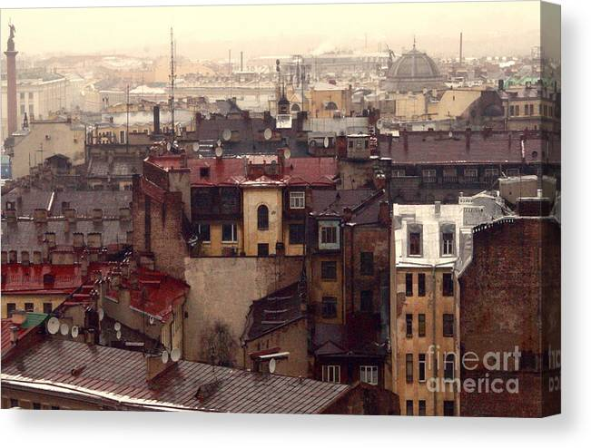 Buildings Canvas Print featuring the photograph Old Old City by Vadim Grabbe
