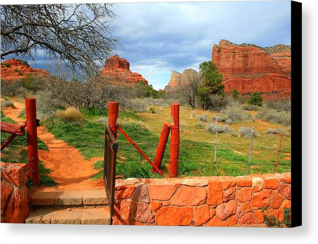 Arizona Canvas Print featuring the photograph Enter Red Rock Country by Miles Stites