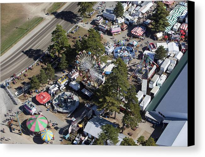 America Canvas Print featuring the photograph Fryeburg Fair, Maine Me by Dave Cleaveland