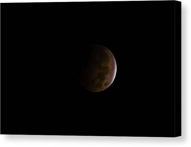 Blood Canvas Print featuring the photograph Blood Moon by Steven Santamour