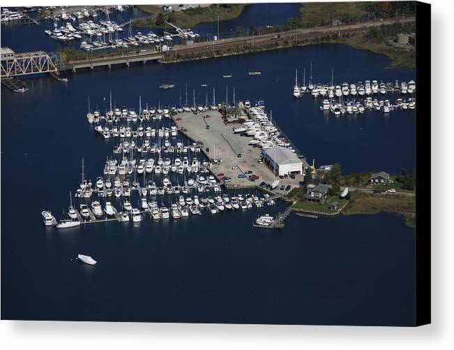 America Canvas Print featuring the photograph Brewer Yacht Yard, Mystic by Dave Cleaveland