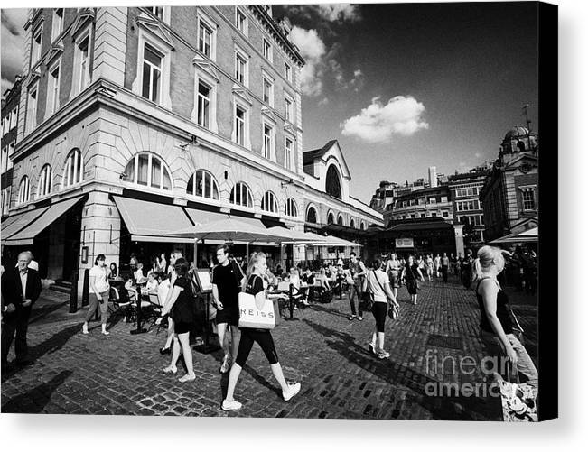 Covent Canvas Print featuring the photograph covent garden London England UK by Joe Fox
