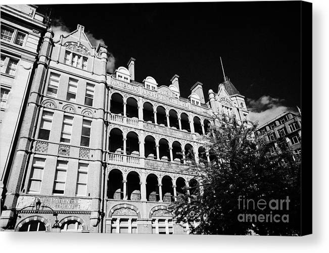 Former Canvas Print featuring the photograph former royal waterloo hospital for children now dormitories for university of notre dame London Engl by Joe Fox