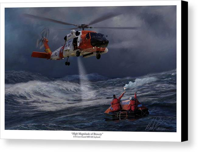 Aviation Canvas Print featuring the painting High Magnitude Of Bravery by Mark Karvon