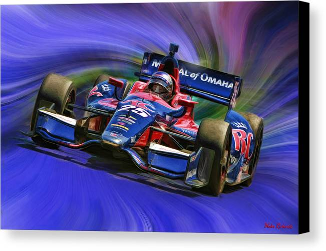 Indycar Series Canvas Print featuring the photograph Izod Indycar Series Marco Andretti by Blake Richards