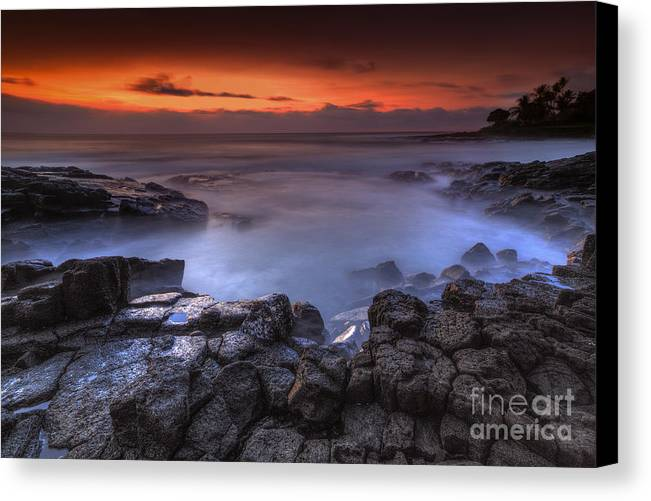 Sunset Canvas Print featuring the photograph Kona The Big Island by Marco Crupi