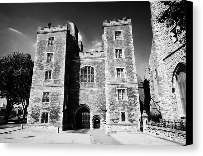 Lambeth Canvas Print featuring the photograph mortons tower lambeth palace London England UK by Joe Fox