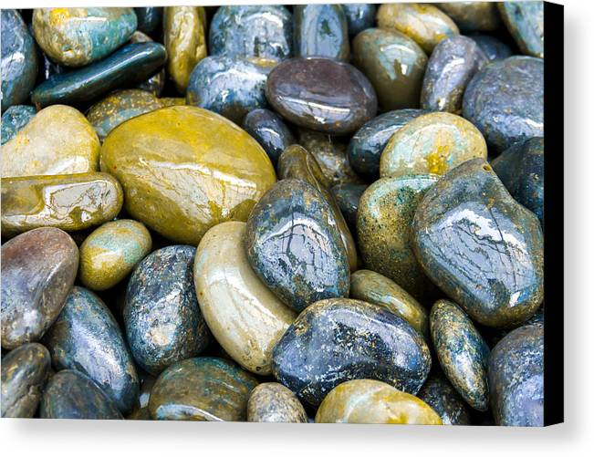 Abstract Photography Canvas Print featuring the photograph Rock In A Hard Place by Terry Walsh