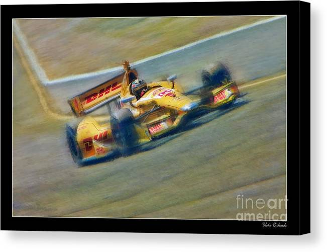 Ryan Hunter-reay Canvas Print featuring the photograph Ryan Hunter-reay by Blake Richards