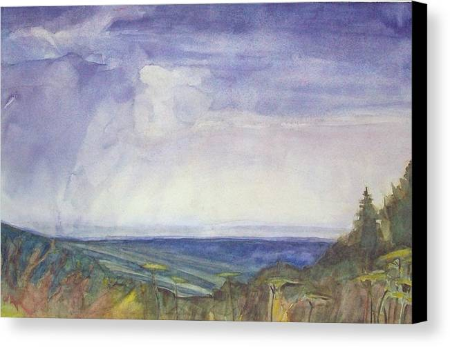 Summer Storm Canvas Print featuring the painting Storm Heaves - Hog Hill by Grace Keown