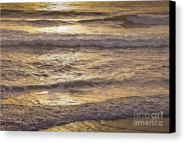 America Canvas Print featuring the photograph Golden Surf by Susan Cole Kelly